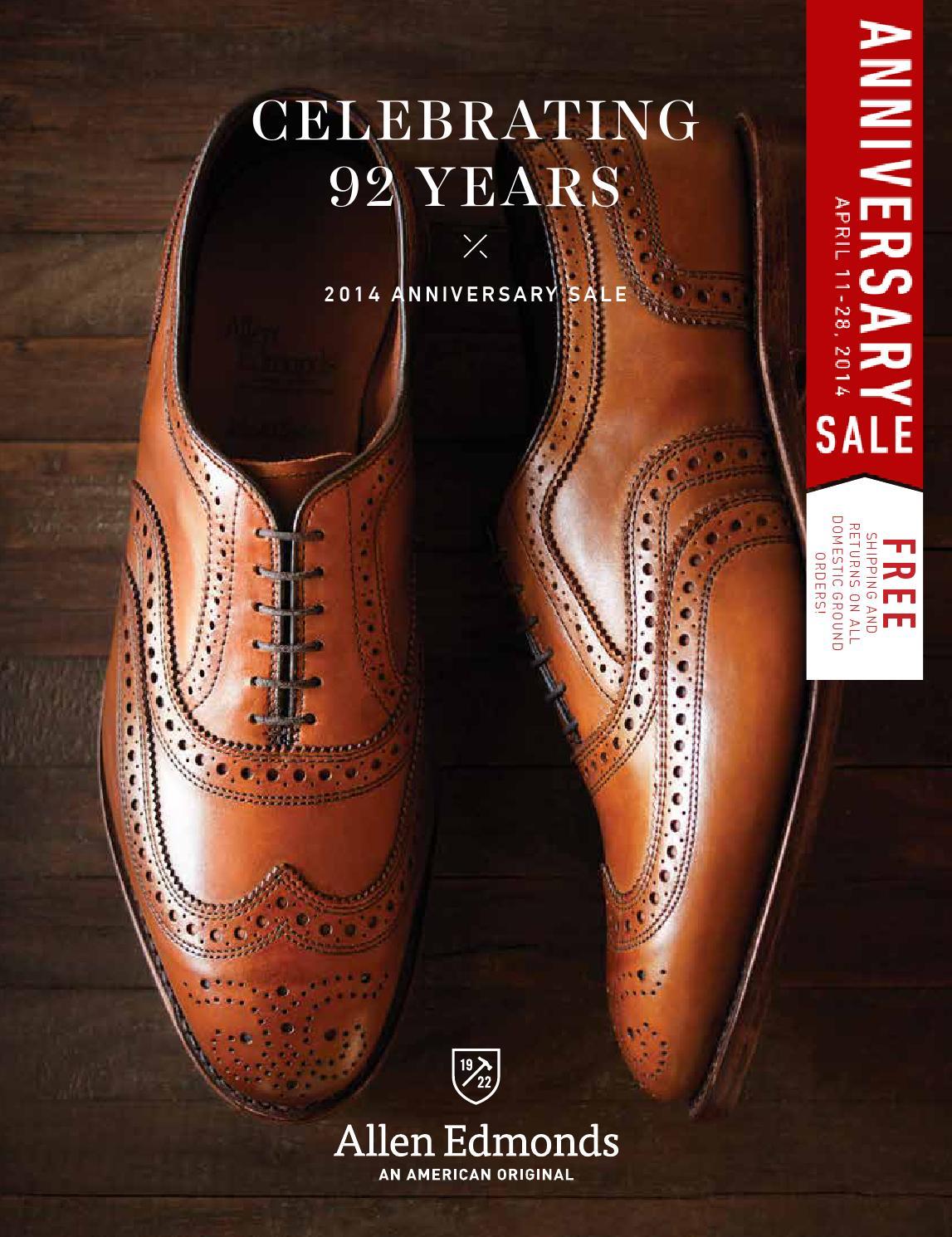 Allen Edmonds Spring Anniversary Sale