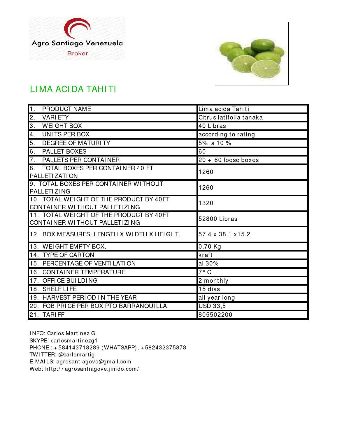 Lima acida tahiti by Carlos Martinez G  - issuu
