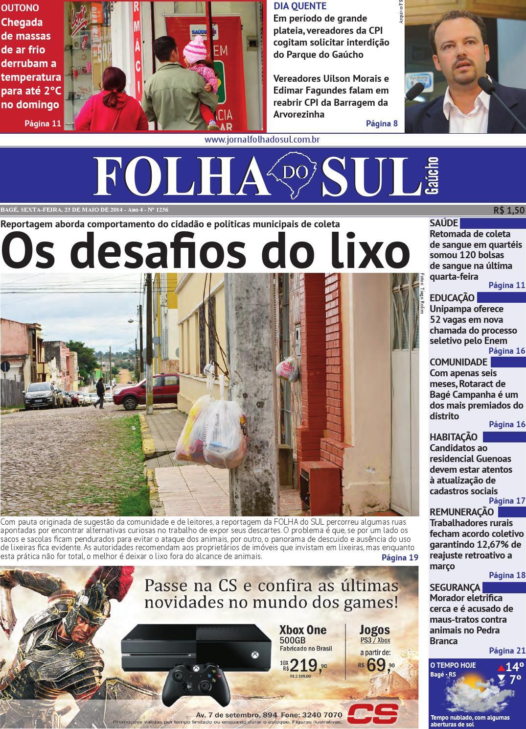 4d93df97d Folha do Sul Gaúcho Ed. 1236 (23/05/2014) by Folha do Sul Gaúcho - issuu