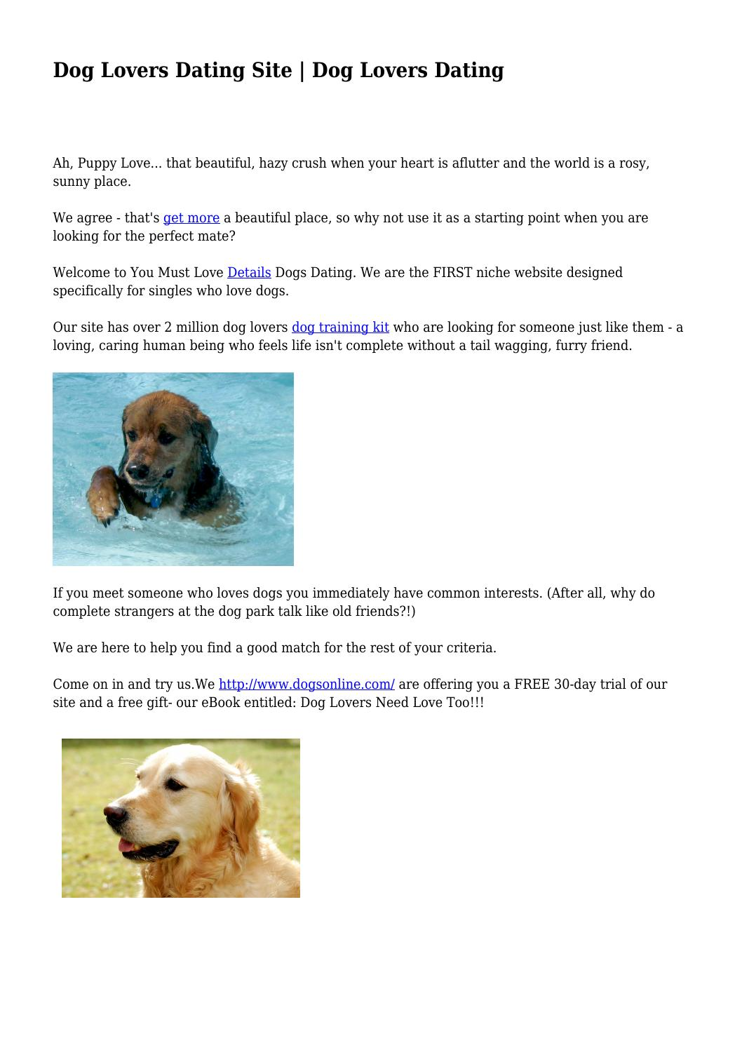Dog Lovers Dating Site | Dog Lovers Dating by dysfunctionalmi00 - issuu