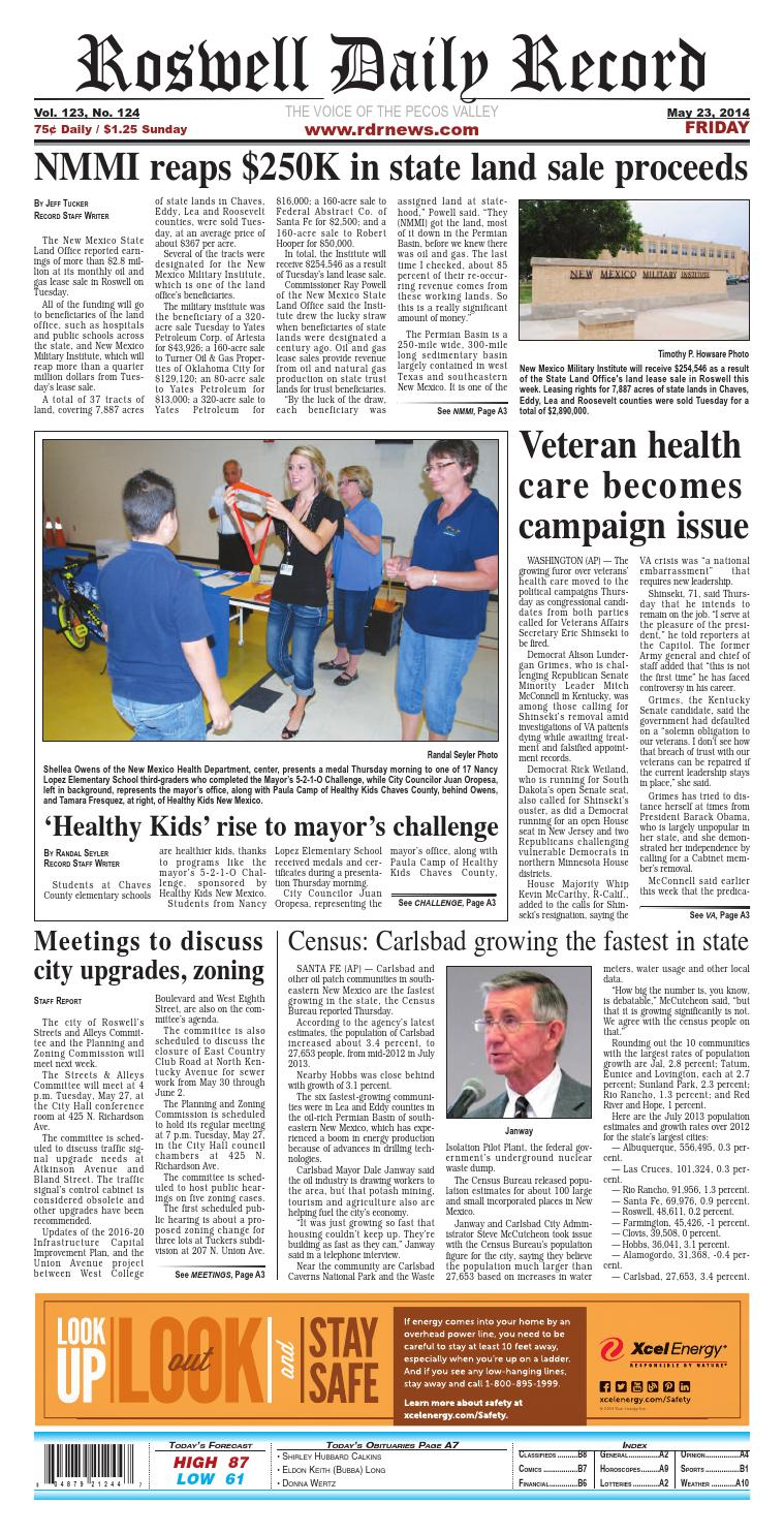 7ea08dcc8b3b3 05 23 14 Roswell Daily Record by Roswell Daily Record - issuu