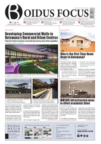 Boidus Focus Vol 4 Issue 2 Mar 2014 By Boidus Botswana Issuu