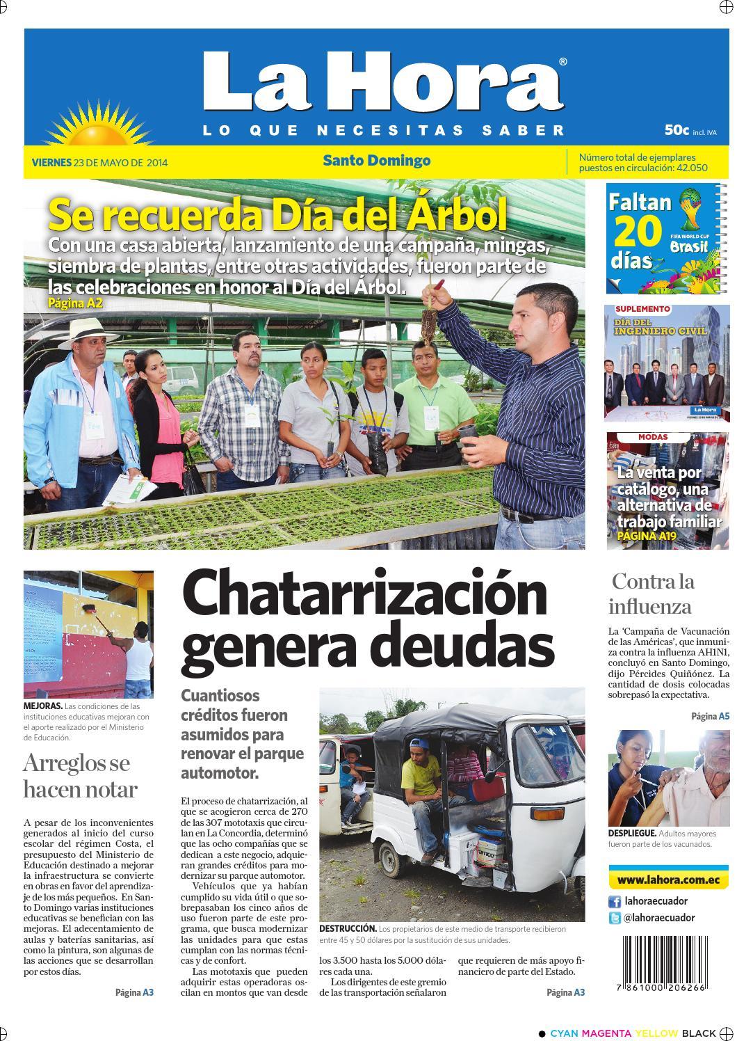Edición impresa Santo Domingo del 23 de mayo de 2014 by Diario La Hora  Ecuador - issuu 233ab0f1a04