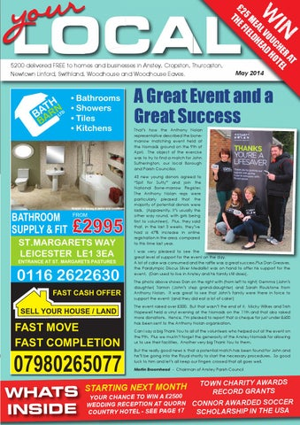 May 2014 - Your Local Anstey, Newtown Linford, Swithland, Cropston