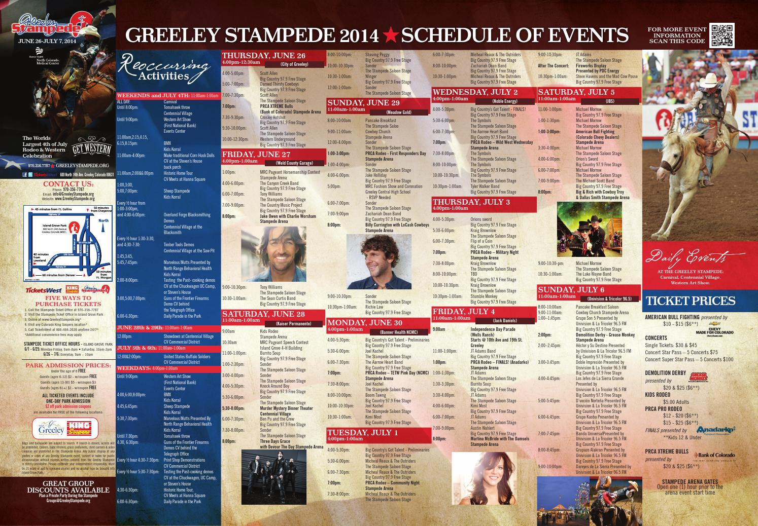 Stampede Folded Brochure 2014 By The Greeley Publishing