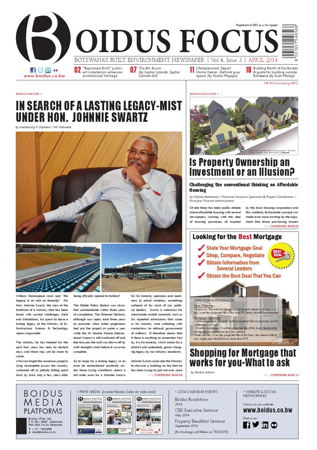 Boidus Focus Vol 4 Issue 3 Apr 2014 By Boidus Botswana Issuu