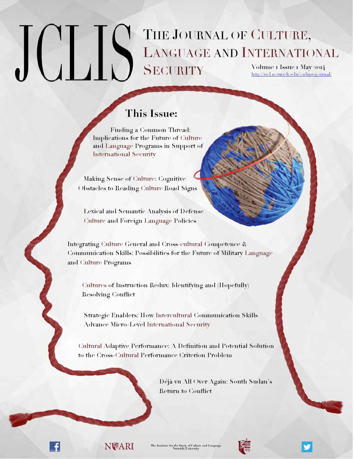The Journal of Culture, Language and International Security