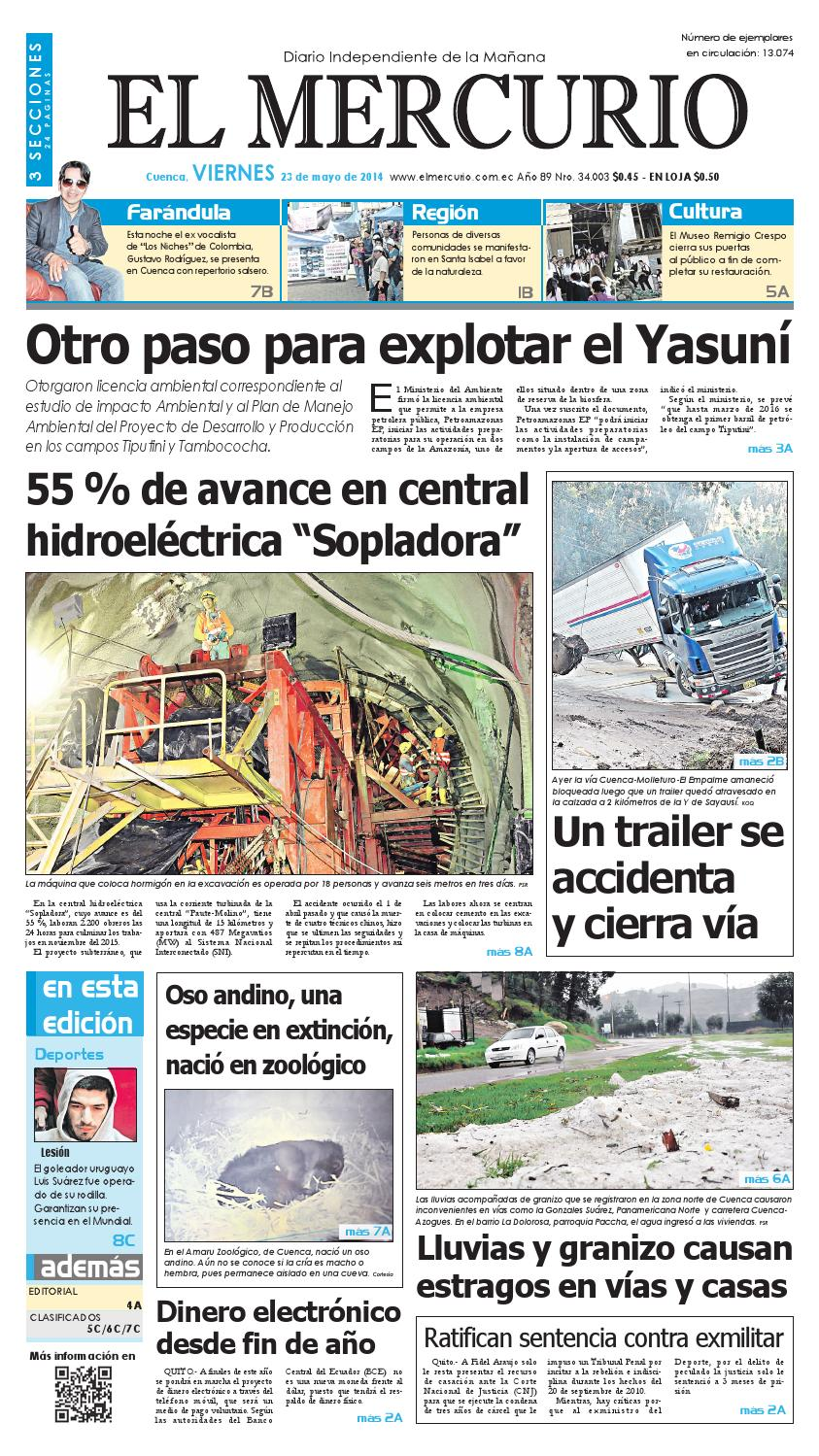 hemeroteca 23-05-2014 by Diario El Mercurio Cuenca - issuu