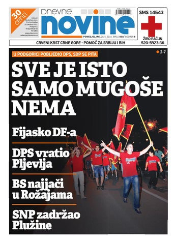 feadc54c00 Izdanje 26. maj 2014. by Dnevne Novine - issuu