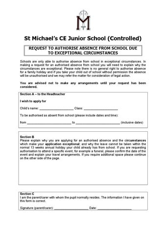 Leave Of Absence Request Form By Schudio  Issuu
