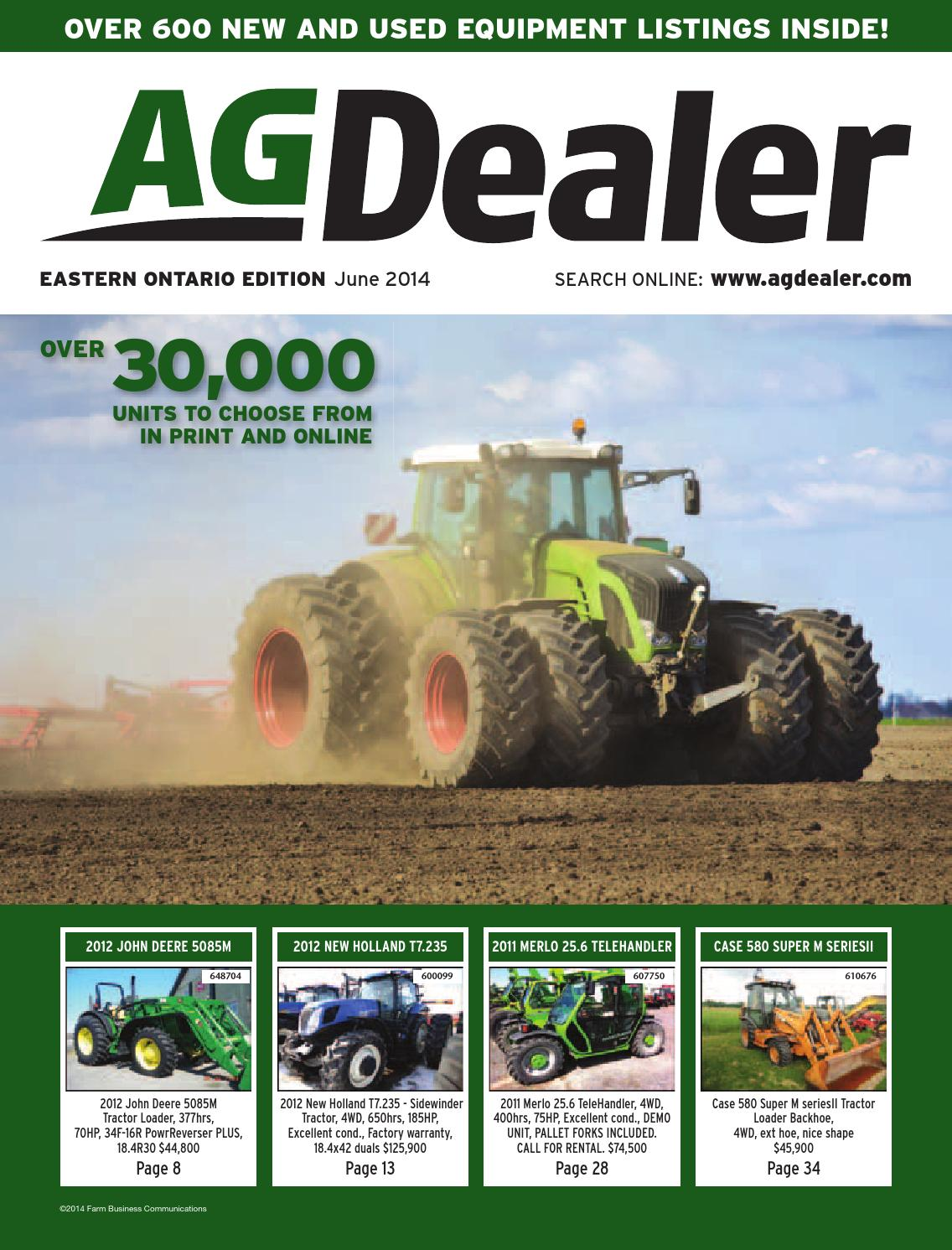 AGDealer Eastern Ontario Edition, June 2014 by Farm Business
