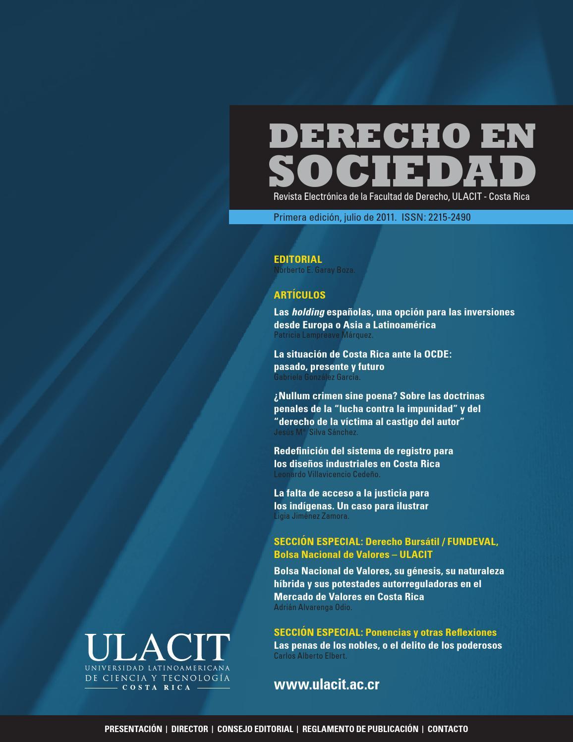 Derecho en Sociedad (ULACIT) by Javier Chacón Troz - issuu