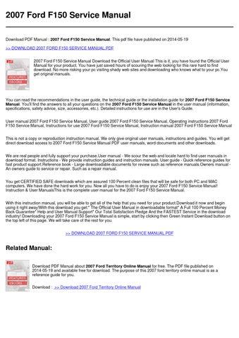 2007 f150 service manual pdf