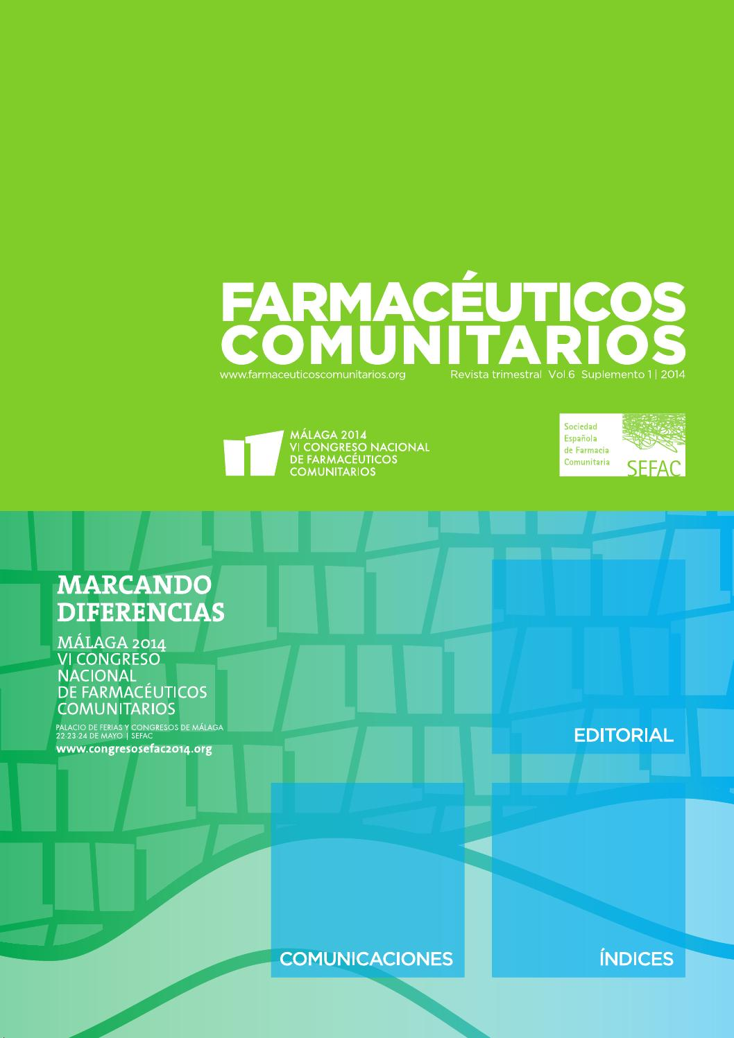 Farmaceuticos Comunitarios 2014 Volumen 6 Suplemento 1 By Canalsefac Issuu