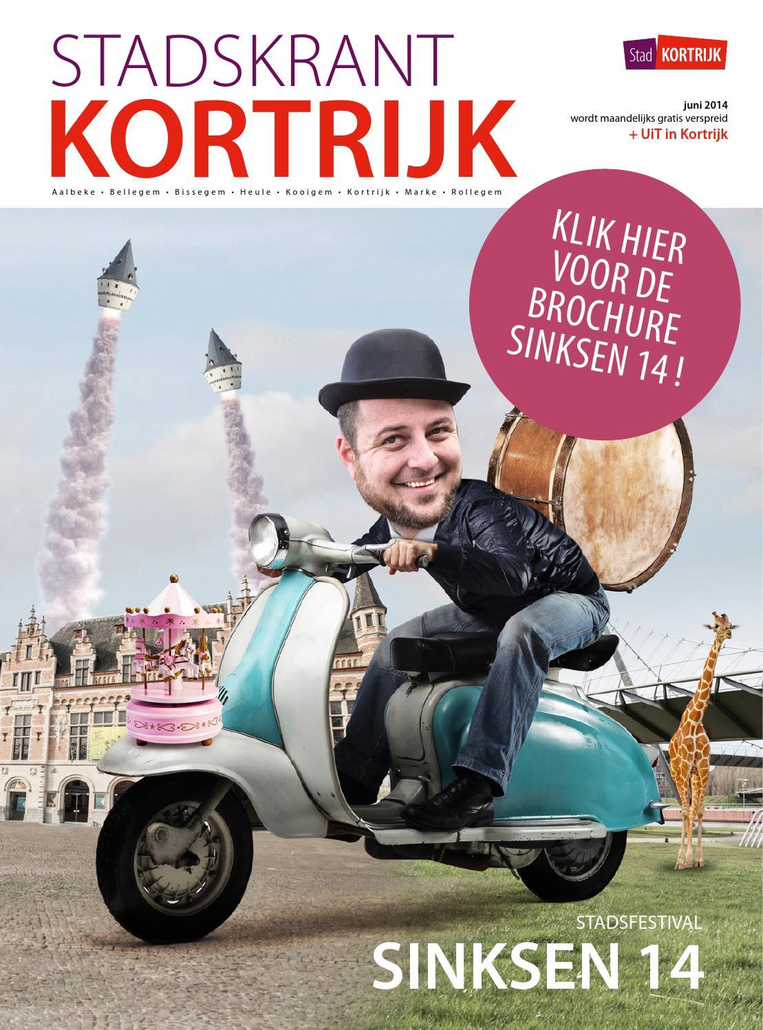 4029d1878b2 Stadskrant juni 2014 + Programmabrochure Sinksen by stad Kortrijk - issuu
