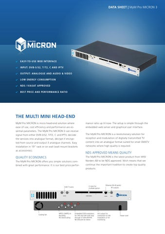 MICRON 3 by WISI Norden AB - issuu