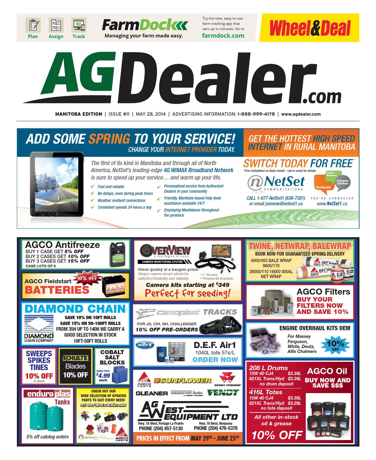 Wheel Amp Deal Manitoba May 28 2014 By Farm Business Oil Filter Chevrolet Spin 1300 Cc Diesel Communications Issuu