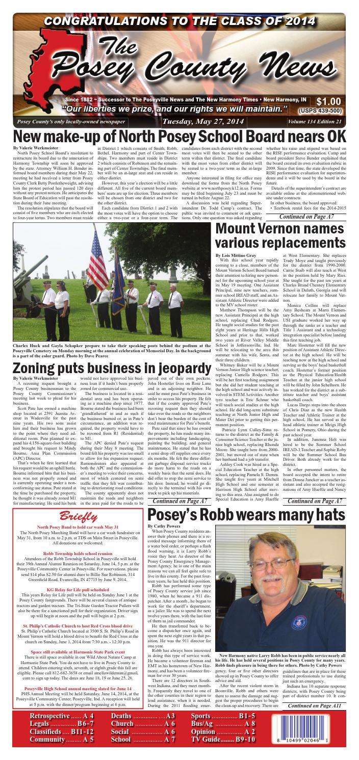 May 27 2014 The Posey County News By Issuu Kia Sedona Parts Diagram Http Wwwkiapartsoverstockcom Showassembly