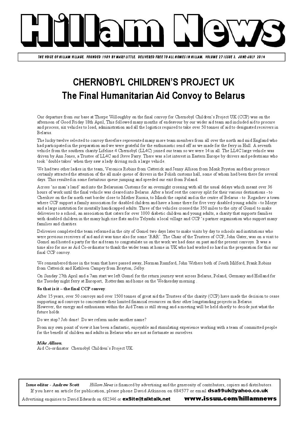 c09a333e6e Hillam news june july 2014 by Hillam News - issuu