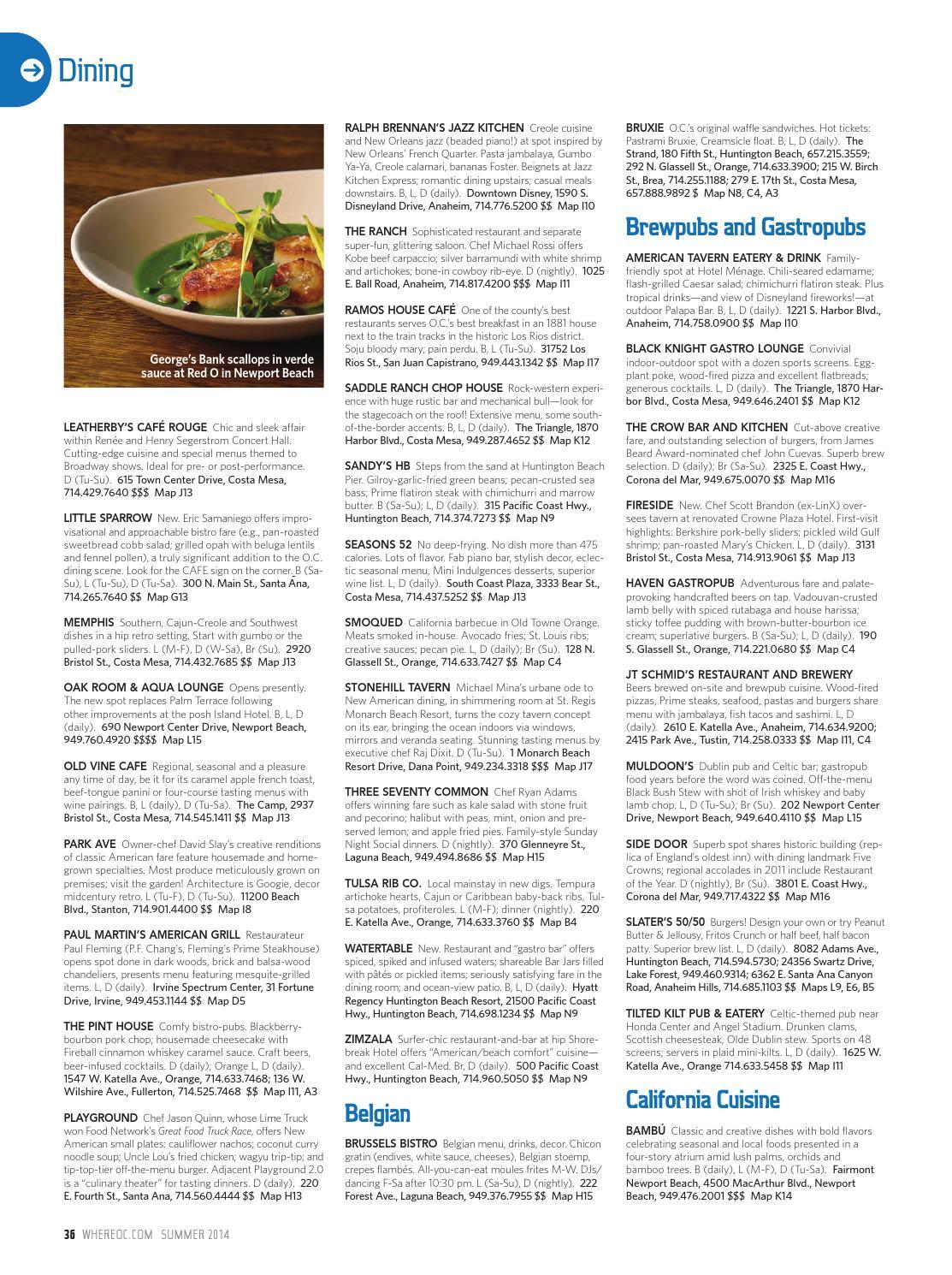 WHERE Orange County Magazine Summer 2014 by SoCalMedia - issuu