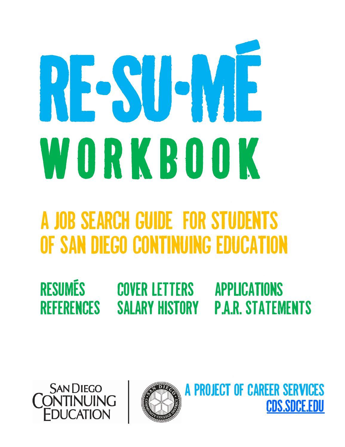 resume workbook by doug elliot