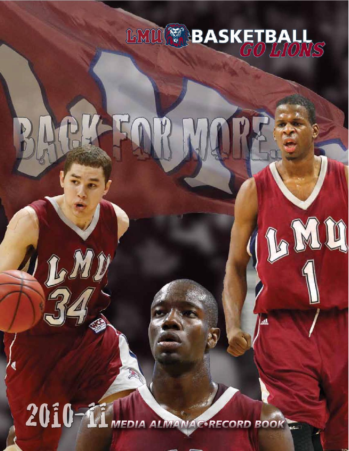 2010 11 LMU Menu0027s Basketball Media Almanac