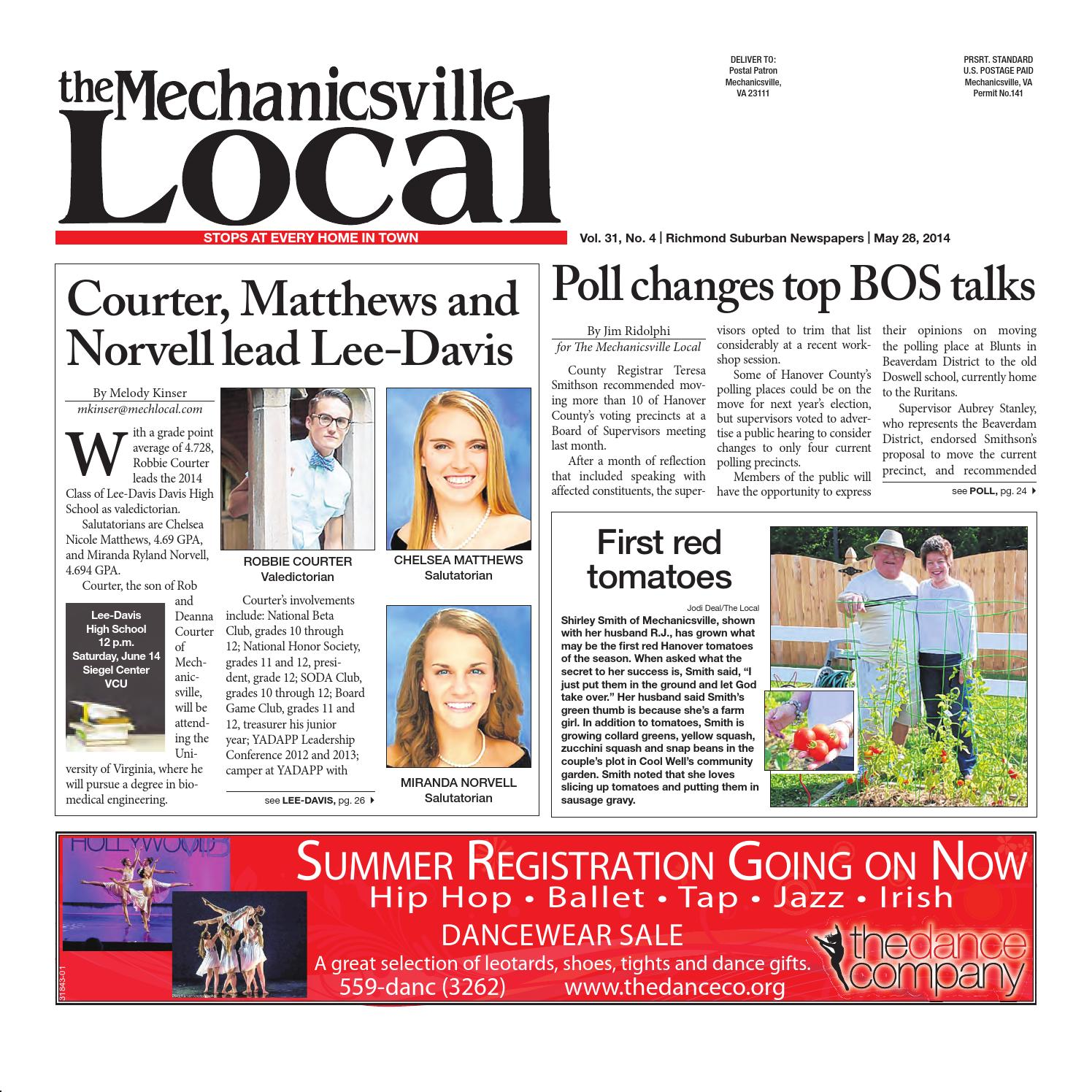 05/28/2014 by The Mechanicsville Local - issuu