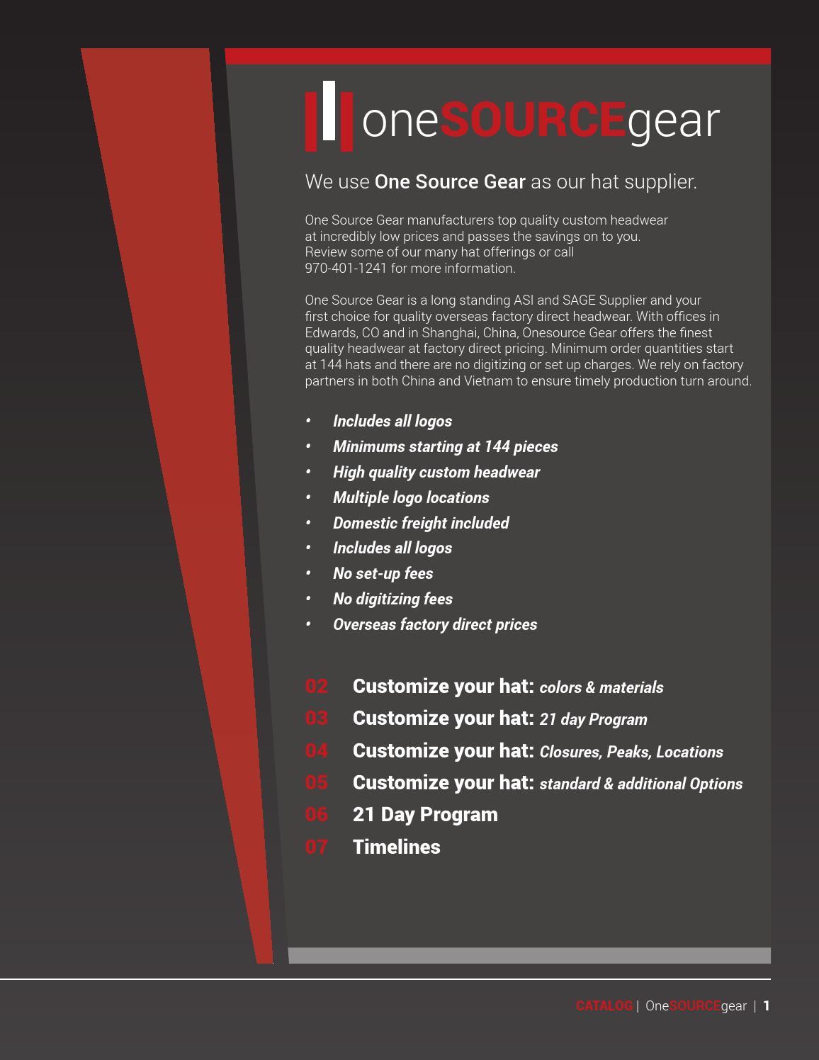 Onesourcegear catalog v2[1] by OSM Shield - issuu