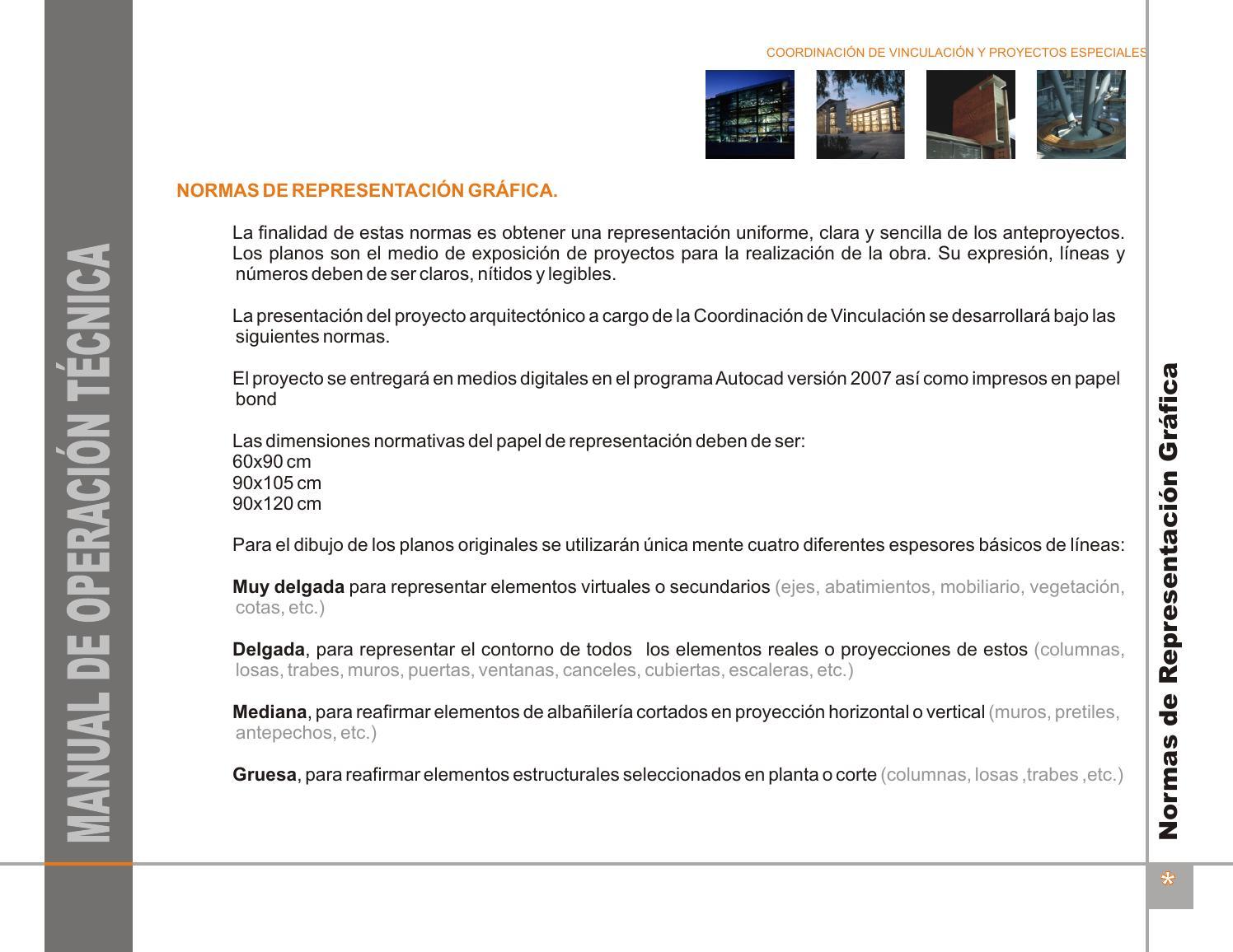 Normas de representaci n by beno hern ndez issuu for Normas para planos arquitectonicos