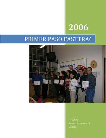 Primer paso fasttrac by Milenio Publishing, LLC - issuu