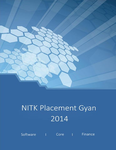 NITK Placement Gyan 2014 by Kiran Karanth - issuu