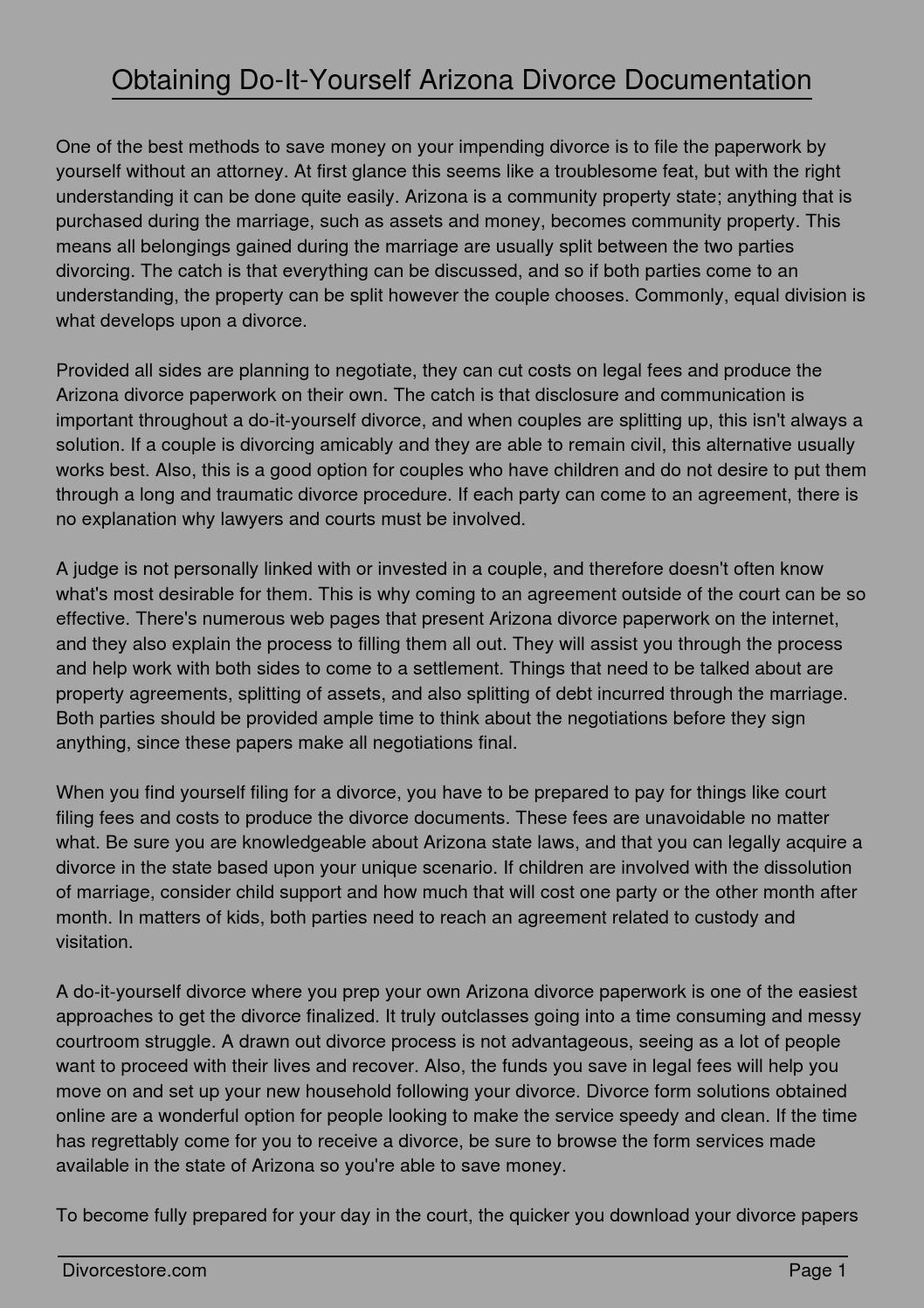 Obtaining do it yourself arizona divorce documentation by obtaining do it yourself arizona divorce documentation by jmelinda31100 issuu solutioingenieria Gallery
