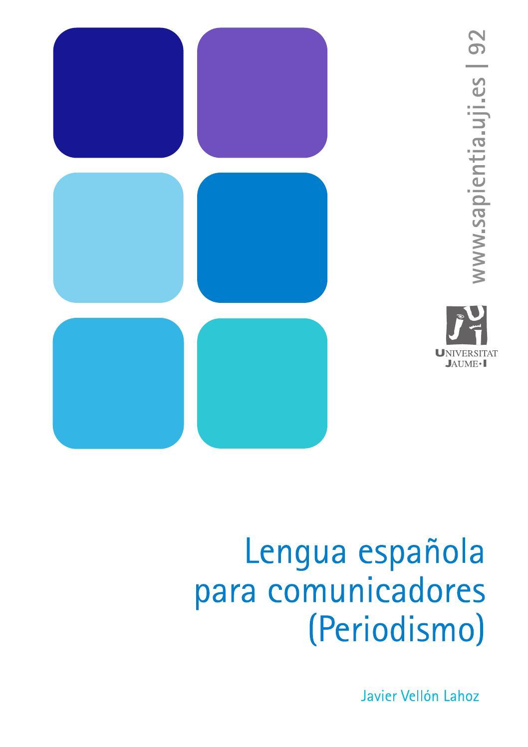 Lengua española para comunicadores (Periodismo) by Universitat Jaume ...