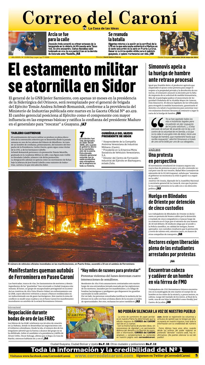 28 05 2014 by Correo del Caroní - issuu