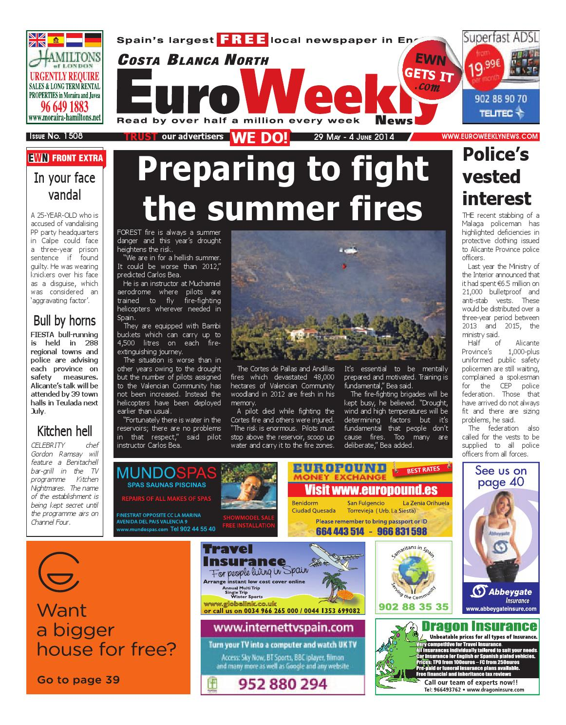 Muebles Gisbert Cornella - Euro Weekly News Costa Blanca North 29 May 4 June 2014 Issue [mjhdah]https://image.isu.pub/120302061216-e13180096b124895945b9ff3b7248d3a/jpg/page_1.jpg