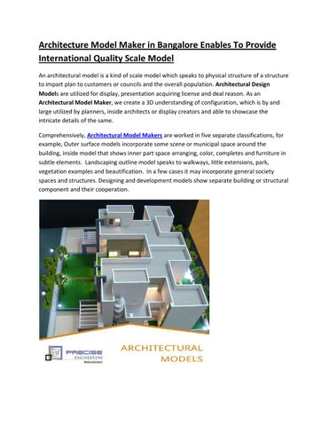 architectural model makers in bangalore by engg models issuu