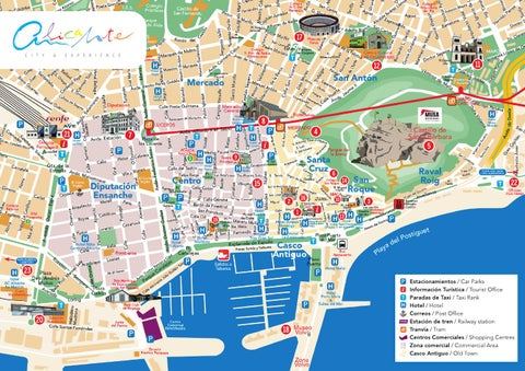 Plano Alicante Centro Alicante center map by Alicante Turismo issuu