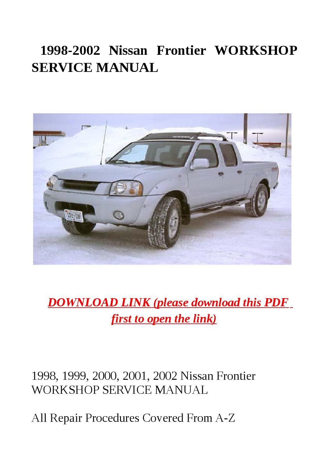 1998 2002 Nissan Frontier Workshop Service Manual By Jacky Dean Issuu Transmission Clutch Diagram Xterra Replace A