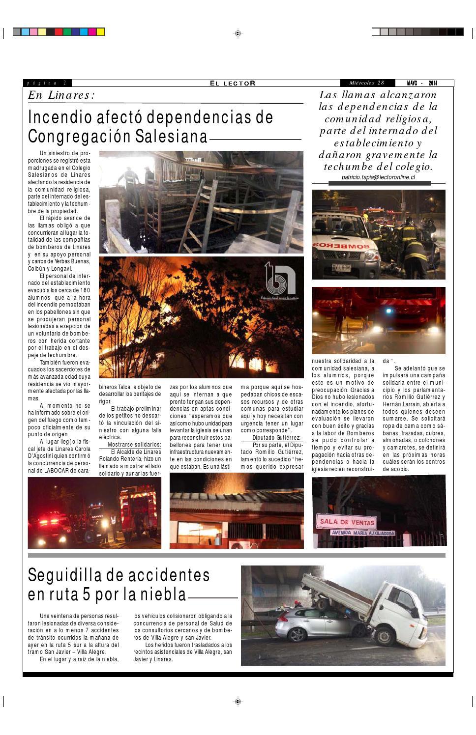 Miercoles 28 de mayo 2014 by Diario El Lector del maule - issuu
