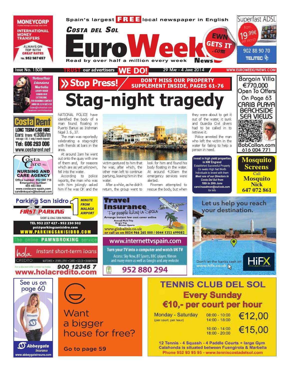 euro weekly news costa del sol 29 may 4 june issue by euro weekly news media sa issuu