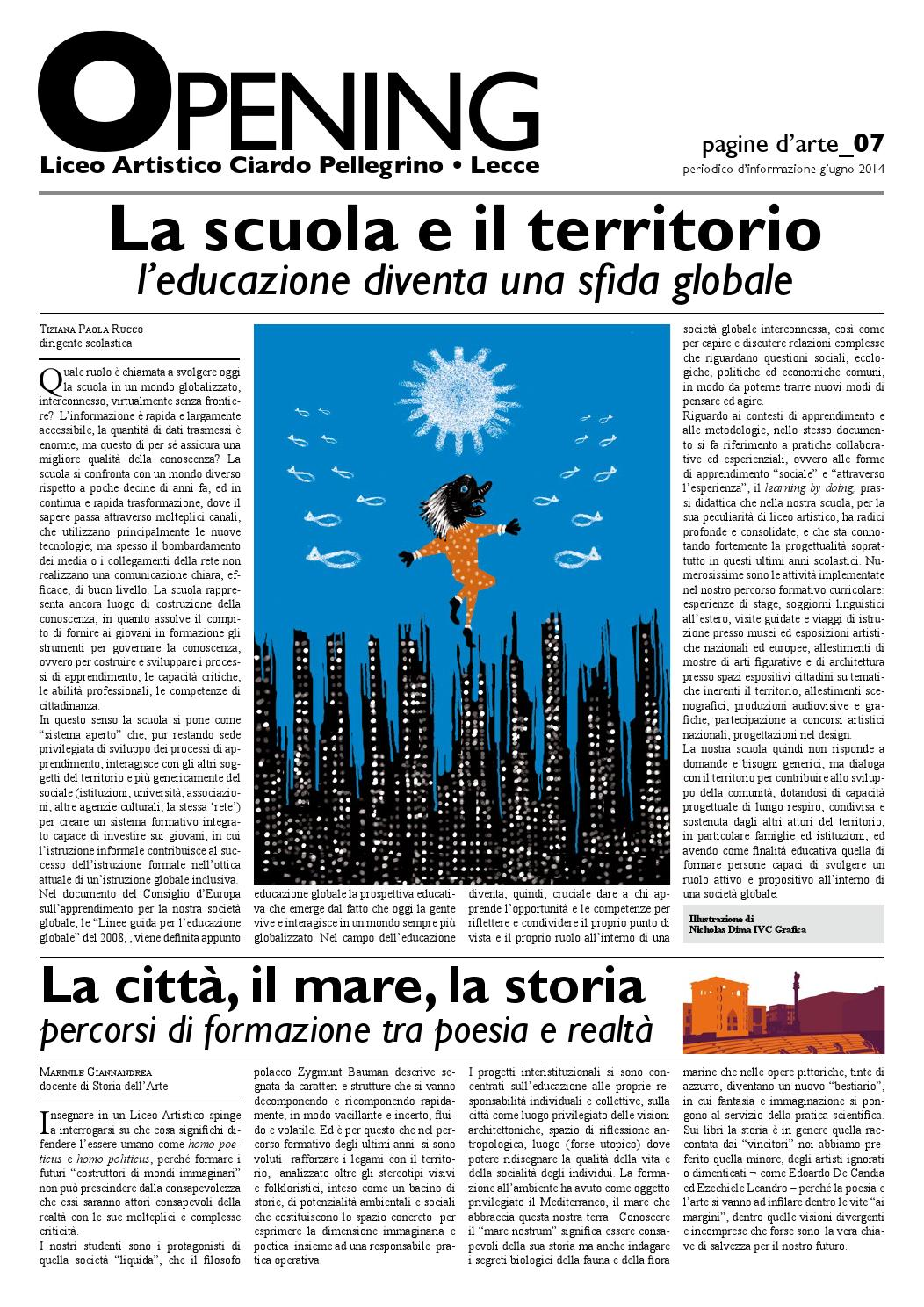 Liceo Artistico Michelangelo Como opening_07 giugno 2014 by liceo artistico e coreutico lecce