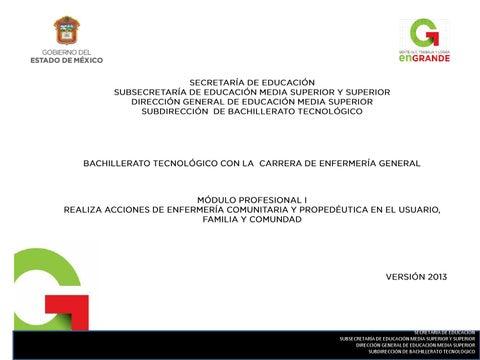 Técnico en enfermería general modulo i 2013 by Subdirección de ...