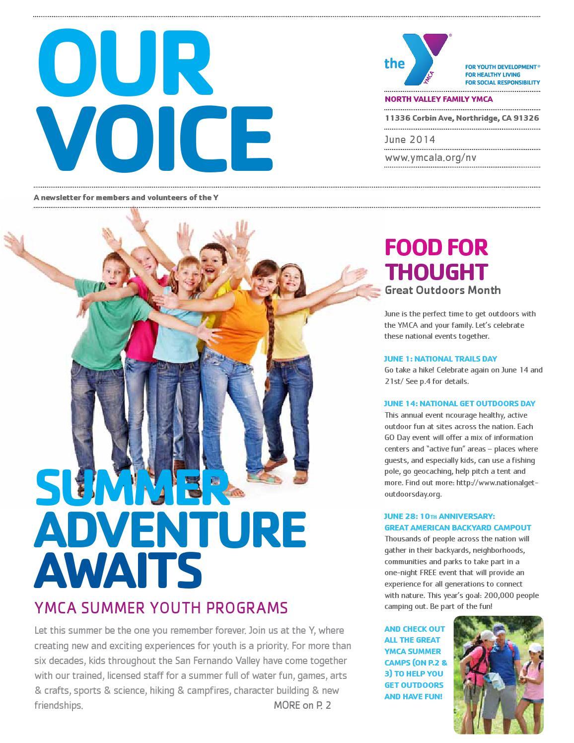 north valley family ymca june newsletter by ymca of metropolitan
