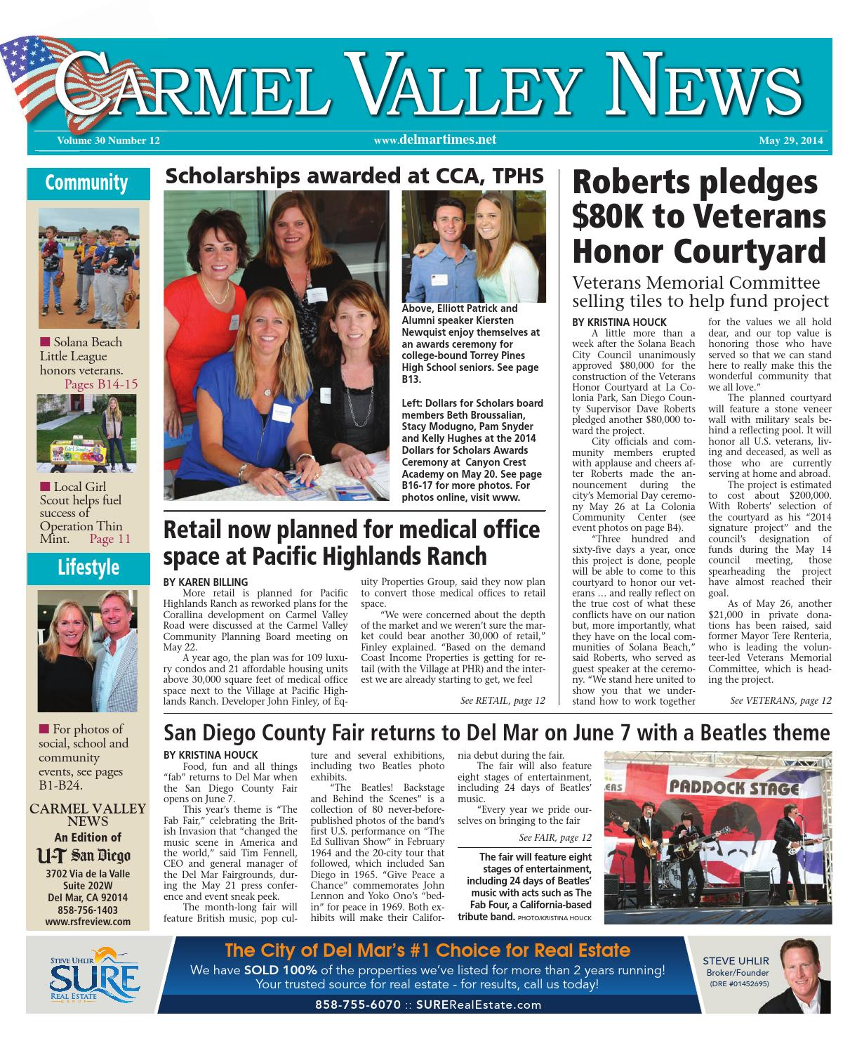 Carmel Valley News 5 29 14 By MainStreet Media