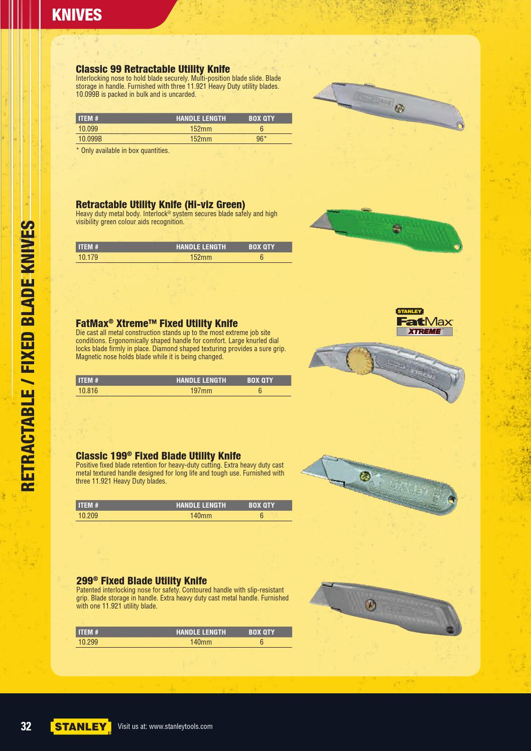 Stanley Hand Tools by C&L Tool Centre Pty Ltd - issuu