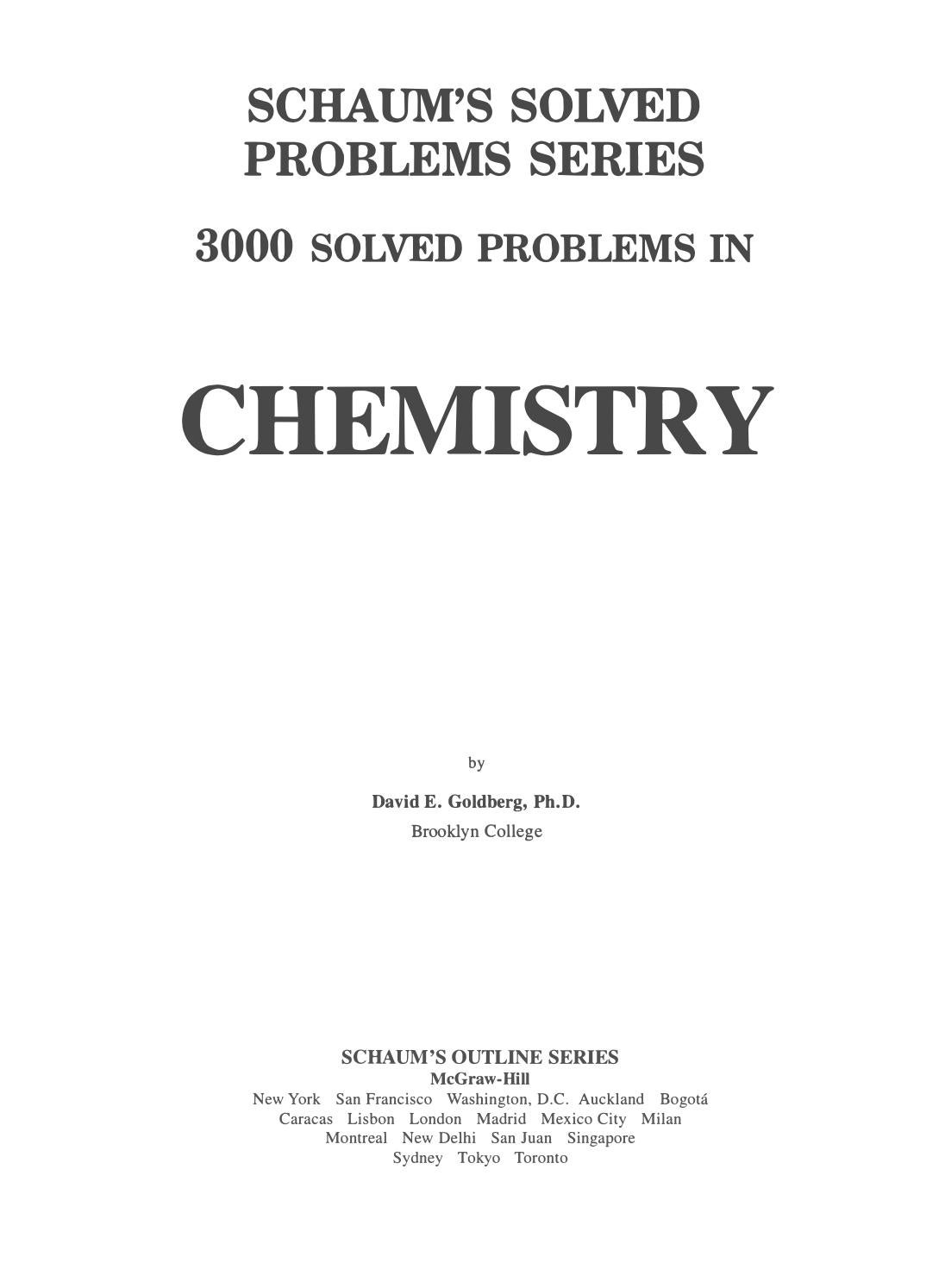 3000 solved problems in organic chemistry pdf