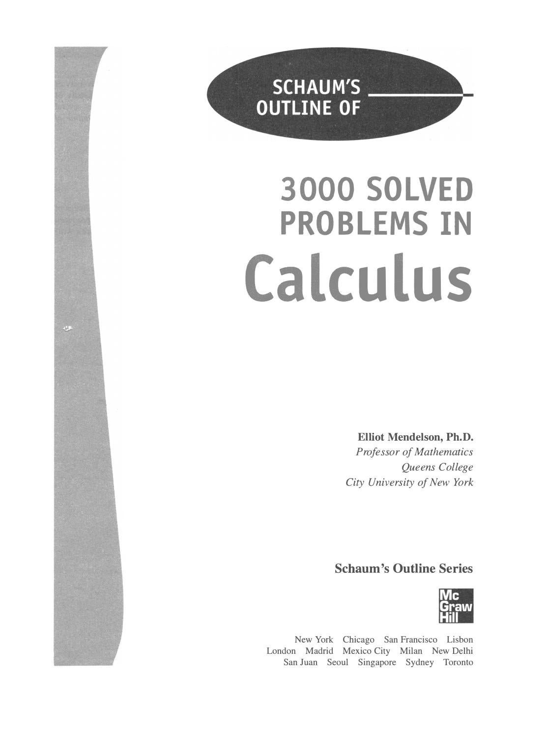 Preview 3000 solved problems in calculus by tusachduhoc - issuu
