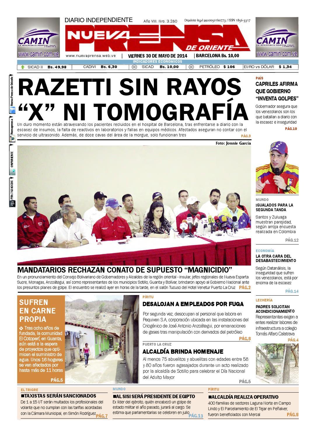Npo 30 de mayo de 2014 by Nueva Prensa de Oriente - issuu