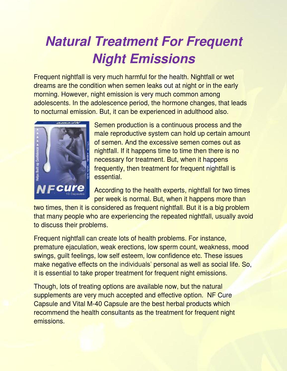 Natural Treatment For Frequent Night Emissions By Maarten -5518