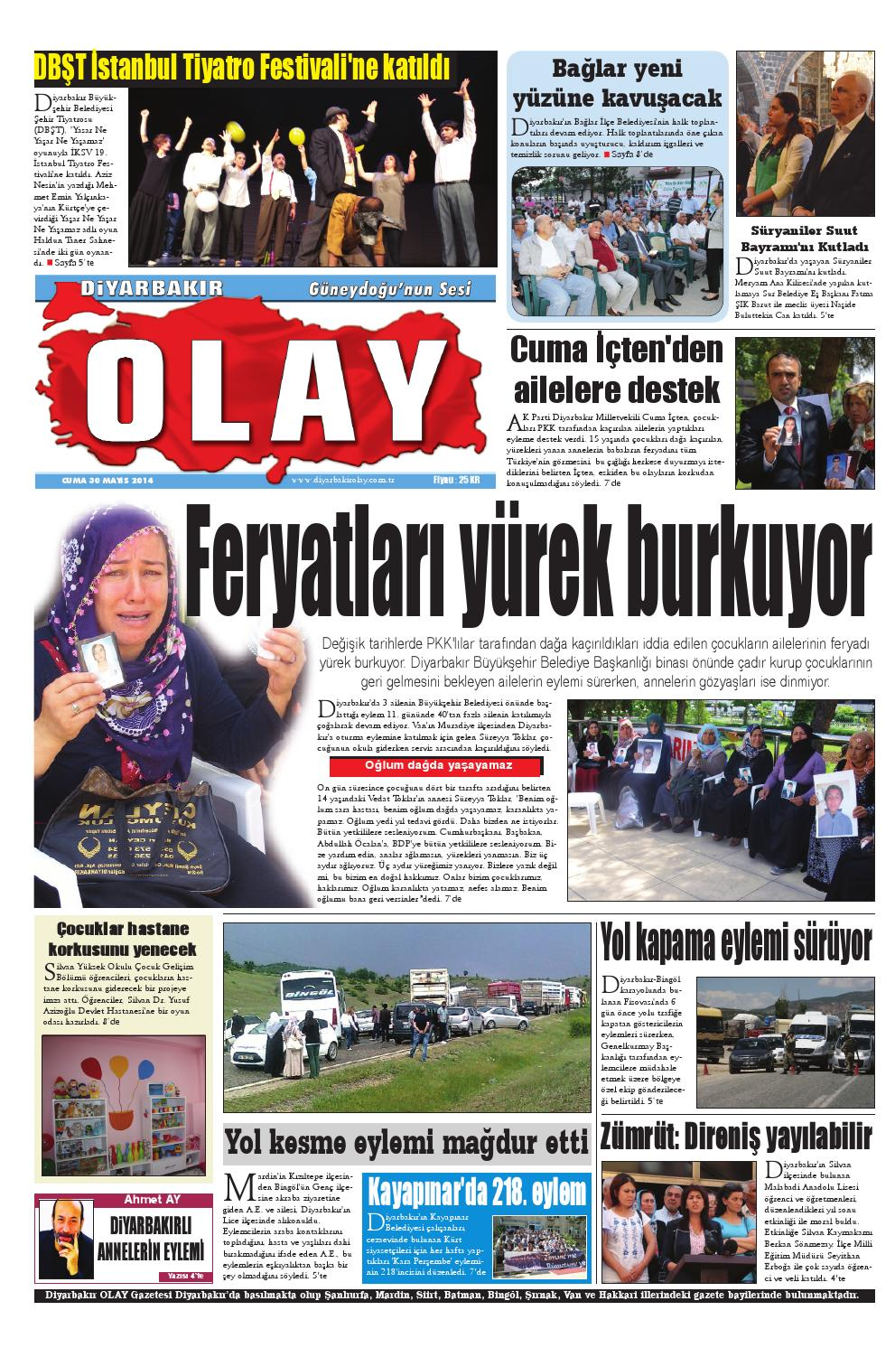 30 05 2014 Gazete Sayfalari By Diyarbakir Olaygazetesi Issuu